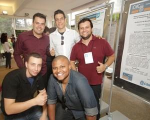 De Minas para o ICMC: grupo apresentou projeto de um aplicativo que ensina Libras. Foto: Henrique Fontes